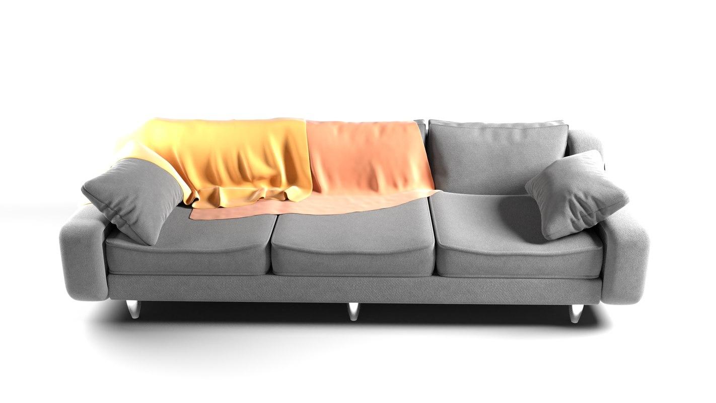 realistic sofa interior 3D