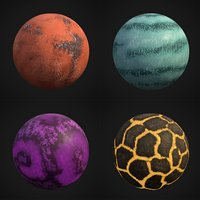 3D planet stylized pack