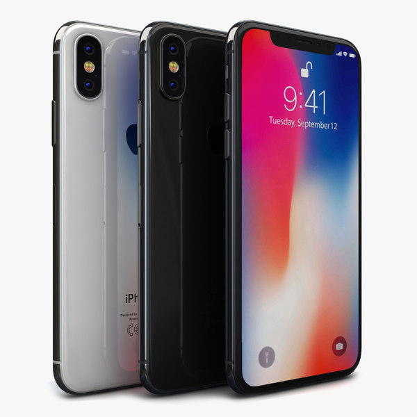 3D apple iphone x color model