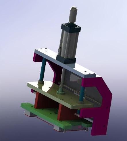 pressing group mechanism model