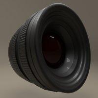 lens camera realistic 3D model