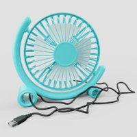 3D usb fan blue