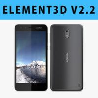 E3D - Nokia 2 Black 3D model