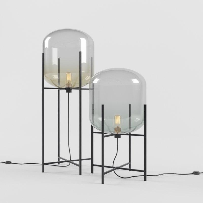 3D model designer floor lamp ccd
