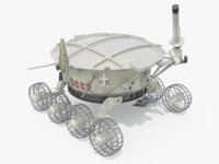 3D lunokhod ussr model