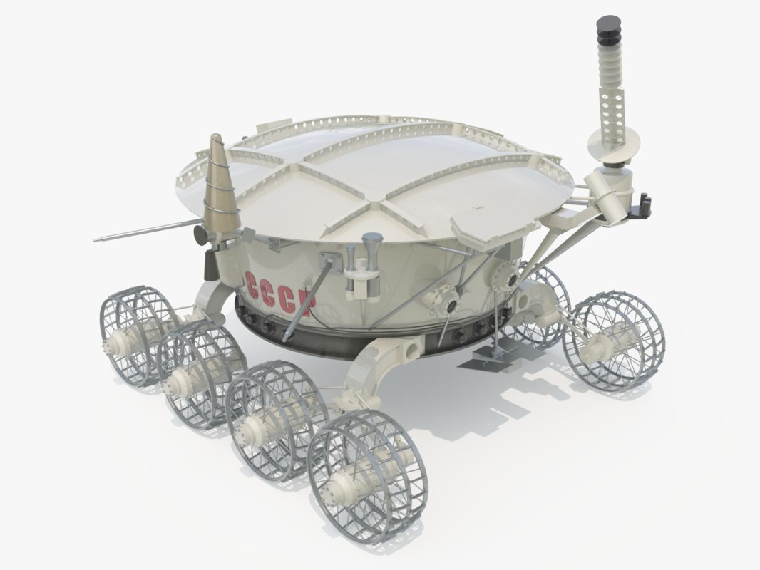 3D lunokhod ussr model