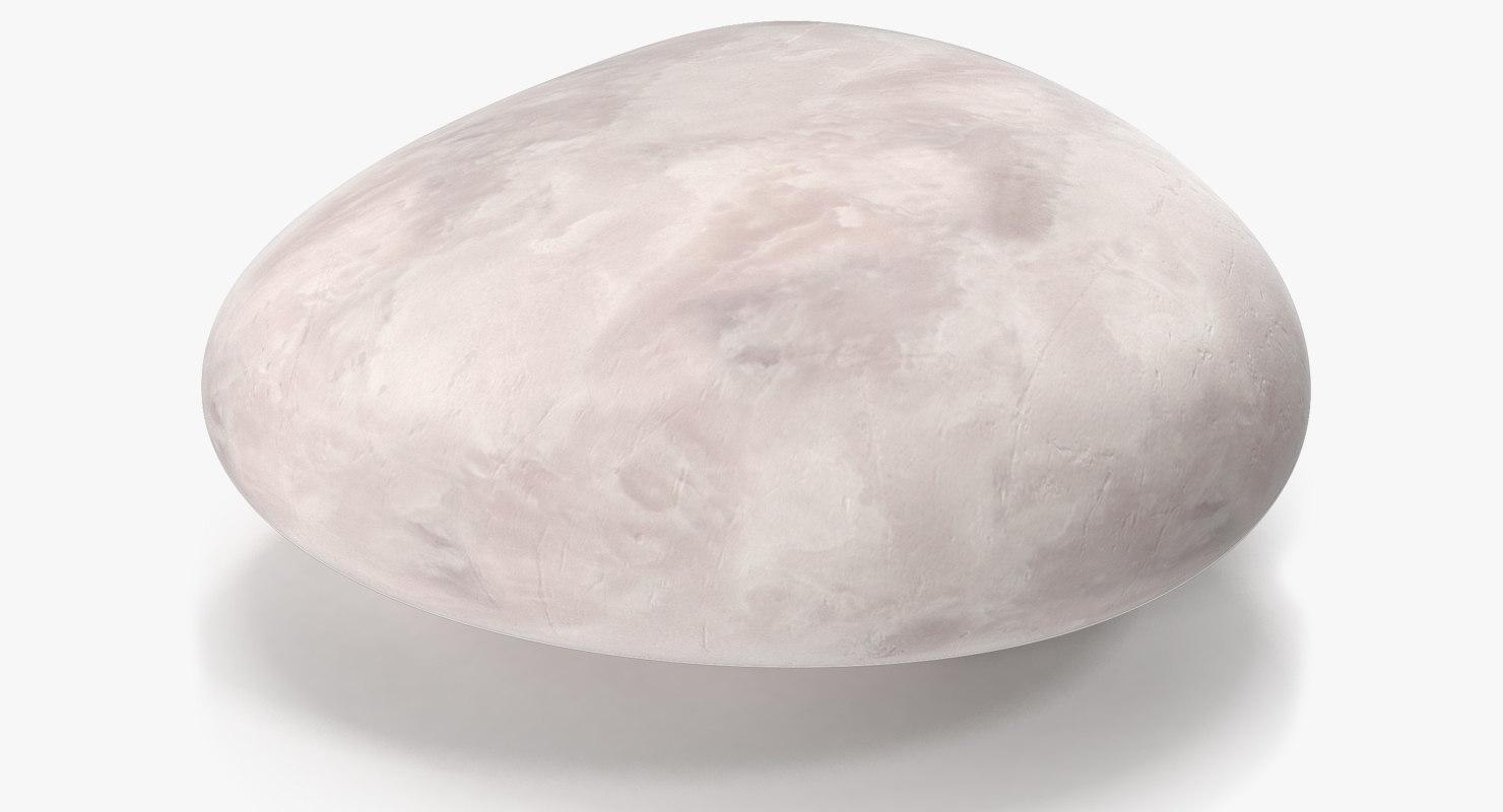 white sea stone 3D
