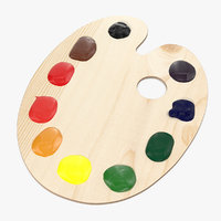 Wooden Palette With Color Paint