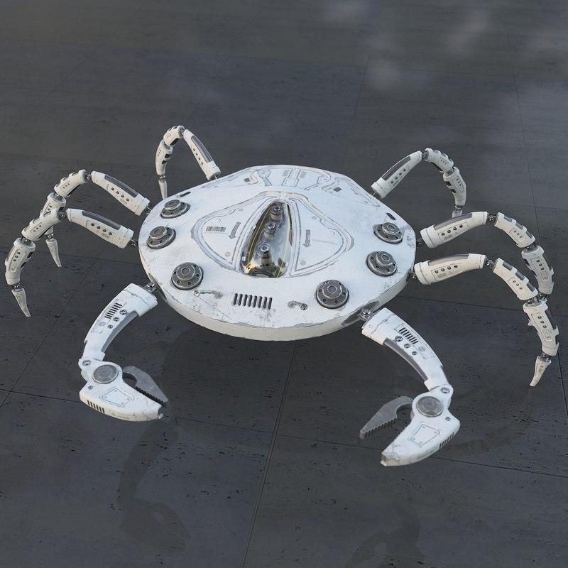3D robo crab model