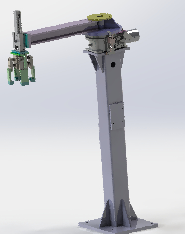 3D model rotary clamping mechanism