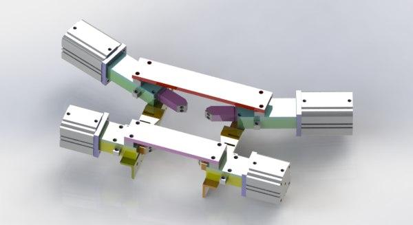cylinder position mechanism 3D