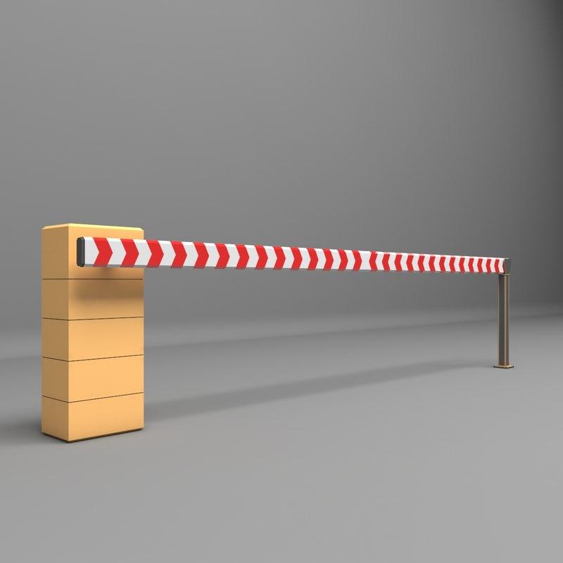 barrier parkin park 3D