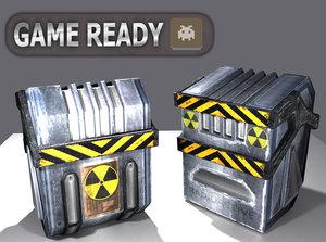 crate radioactive 3D model