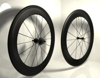 carbon wheels road bike 3D model