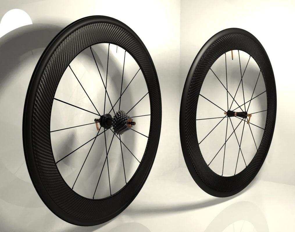 carbon wheels road bike 3D model