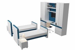 bed bedroom set model