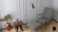 3D chair lamp clock