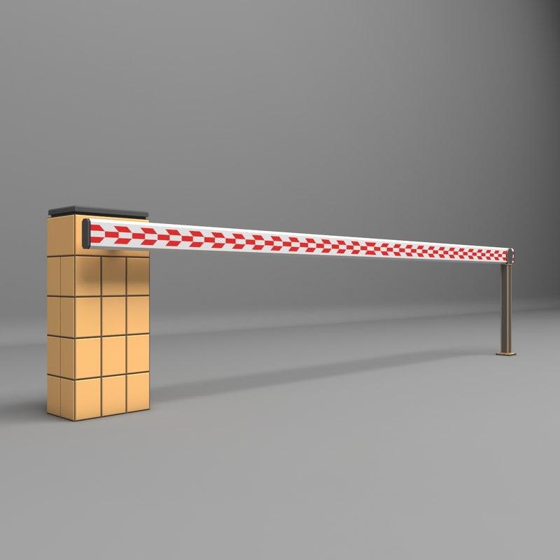 3D model barrier parkin park