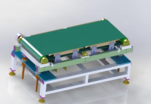 height adjustable conveyor 3D model