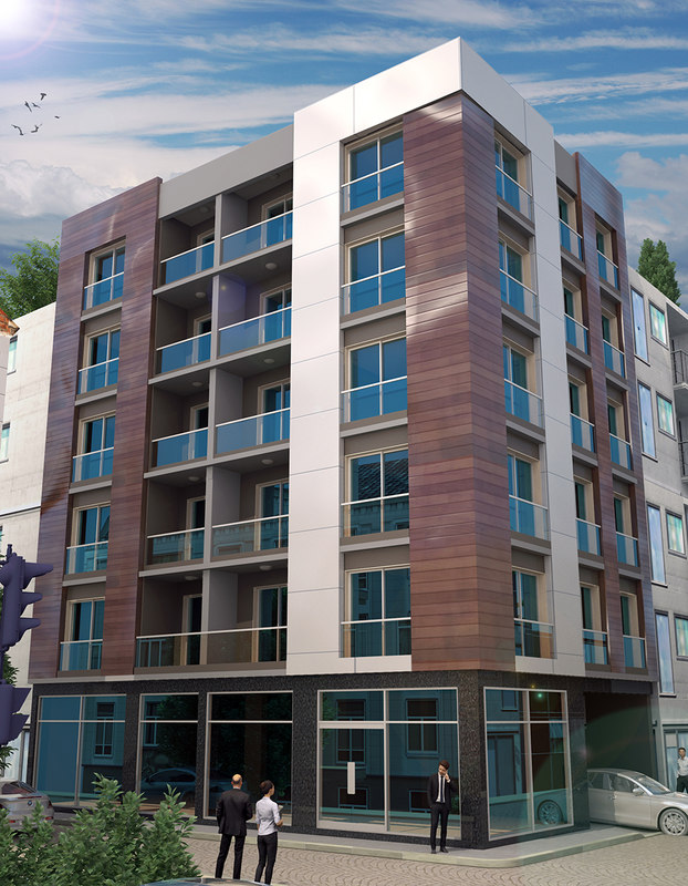 3D modern apartment model