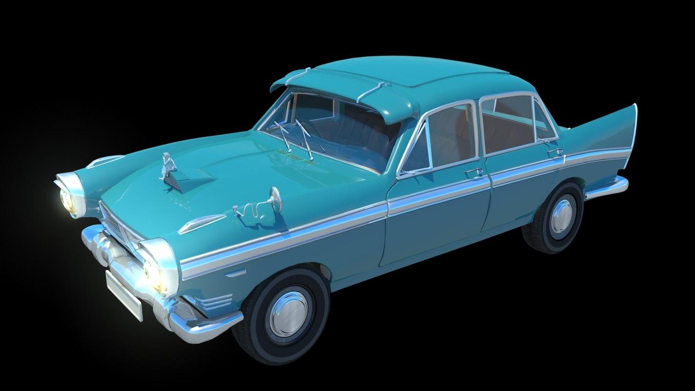 3D 1970 austin cambridge car model