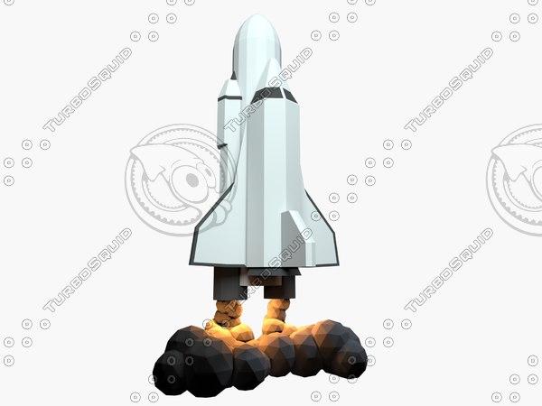 cartoon shuttle 3D