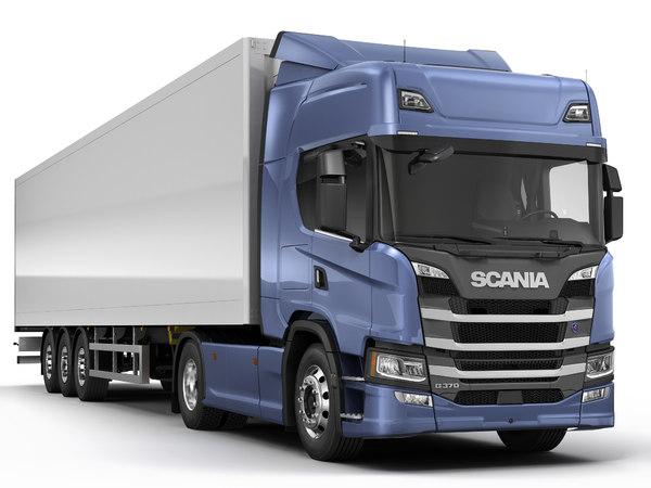 scania g-series semi trailer 3D model