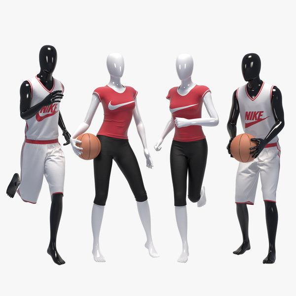 3D set sport mannequin