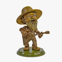 3D model gardener song balalaika