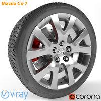 3D armrend car wheel mazda