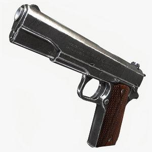 3D colt 1911 model