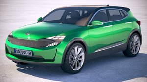 3D generic electric suv
