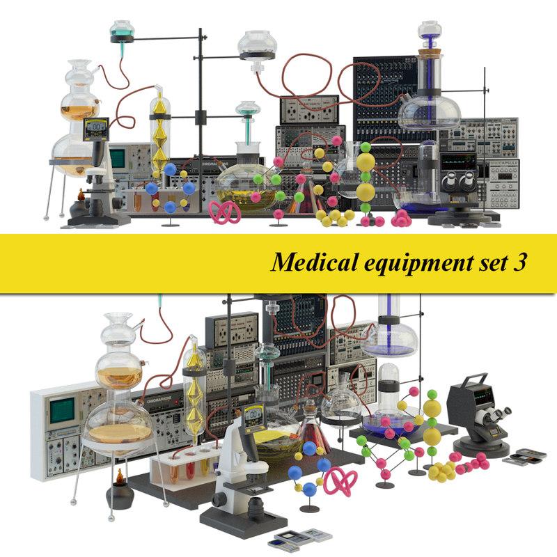 3D model medical laboratory set