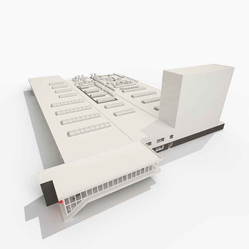 3D building industrial hall model