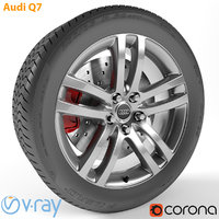 armrend car wheel audi q7 3D model