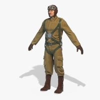 world war pilot rigged model