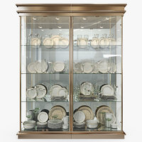 Birgit Israel - Pair of american brass display cabinets