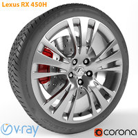 armrend car wheel lexus rx 3D model