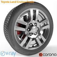 3D armrend car wheel toyota land model