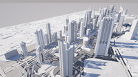 3D model dubai international financial centre