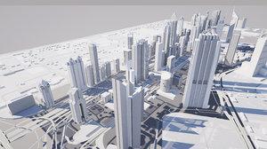 3D model dubai international financial centre