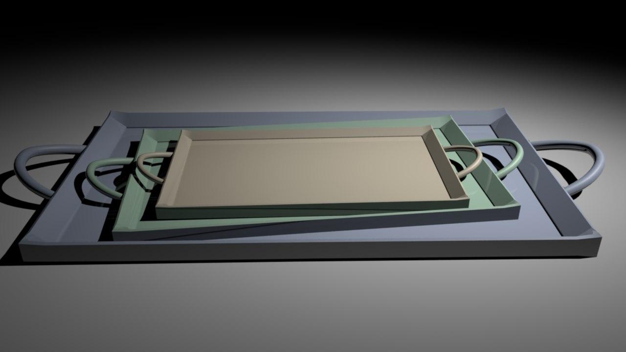 kitchen trays 3D model