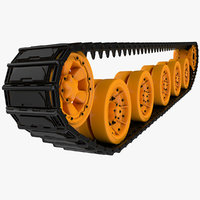 3D model tank track