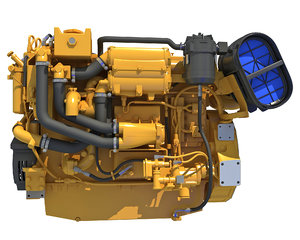 3D marine propulsion engine model