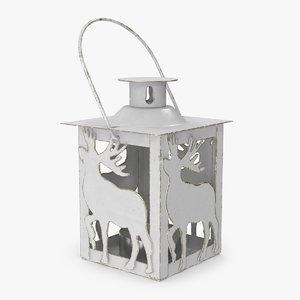 3D christmas deer lantern