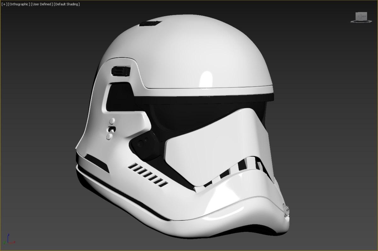 3D jedi order executioner stormtrooper helmet model