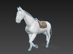 3D akhal teke horse rigged biped