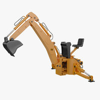 3D model backhoe loader attachment