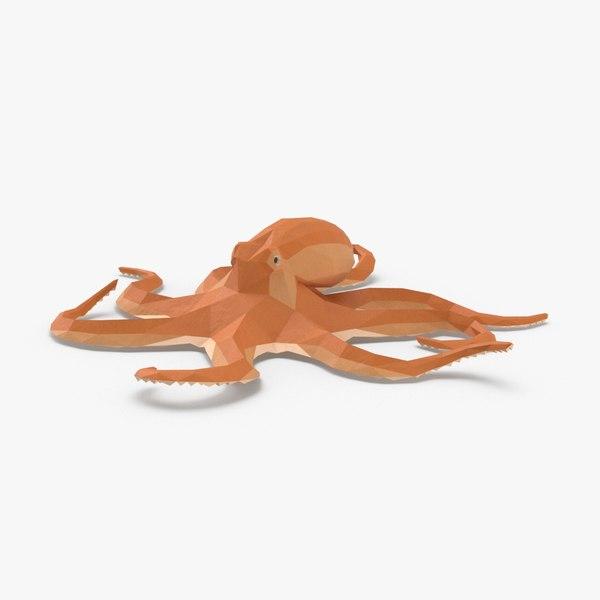 3D model octopus---hovering