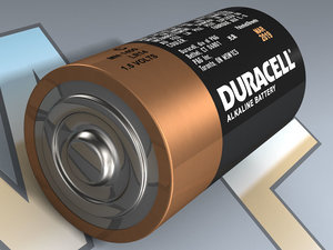 c alkaline battery lr14 3D model